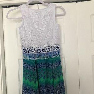 Girls size 10 Speechless Green and Blue dress
